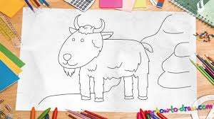 how to draw a goat easy step by step drawing lessons for kids