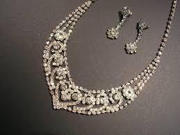 rhinestone necklace wedding images Vintage rhinestone necklace bridal wedding bib party 1950s jpg