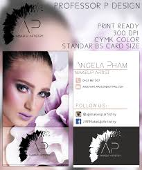 looking for makeup artist feminine modern business card design for angela pham by professor