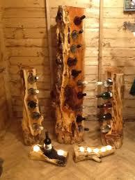 unique wine racks mossart unique wine racks made from yew elm and walnut log wine rack