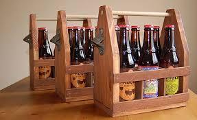 wooden beer tote diy cool material