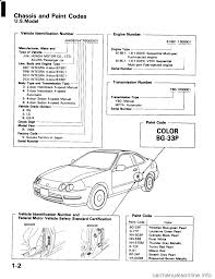 honda integra 1994 4 g workshop manual