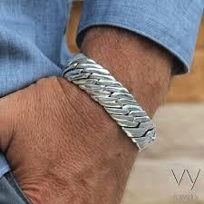 gift men bracelet images Silver gear men bracelet vy jewelry jpg