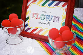clowns for birthday clown themed rainbow birthday party