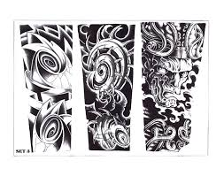 grey polynesian biomechanical tattoo design photo 2 2017 real