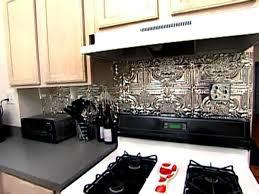 Aluminum Backsplash Kitchen Weekend Projects How To Install A Tin Tile Backsplash Hgtv