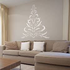 christmas tree on the wall creditrestore us antler christmas tree wall sticker