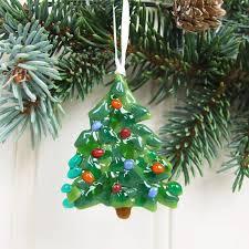 handmade glass tree decoration by irena smith