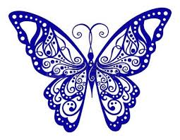 butterfly clipart blue collection