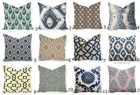 pillows covers navy indigo natural ikat modern all sizes 16x16