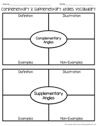 complementary and supplementary angles notes by to the square inch