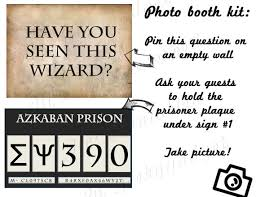 Harry Potter Party Decorations Diy Hp Photo Booth Prisoner Of Azkaban Harry Potter Inspired Party