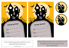 halloween invitation cards festival collections free printable