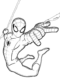 ultimate spider man coloring pages funycoloring