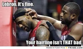 Lebron James Hairline Meme - image result for lebrons james hairline basketball pinterest