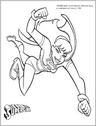 supergirl coloring pages funycoloring