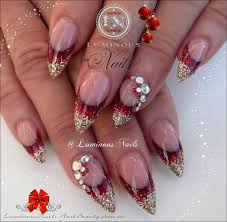 acrylic nail designs with rhinestones