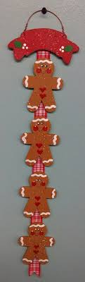 gingerbread family ornament with banner gingerbread banners and