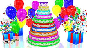 impressive inspiration happy birthday cake and balloons and