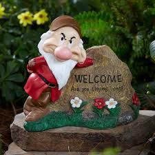 disney disney grumpy welcome rock outdoor living outdoor decor
