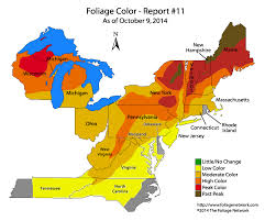 maryland foliage map 2015 autumn foliage report northeast region october 9th 2014