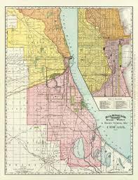 Chicago Railroad Map by Old Railroad Map Chicago Illinois Railway Terminal 1892