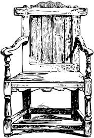 Black And Wood Chairs Clipart Wooden Chair