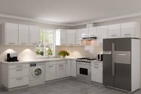 Shiny White Kitchen Cabinets White Gloss Euro Style U2013 Americabinets Kitchen U0026 Bath