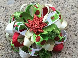 loopy bow christmas hair bow loopy flower hair bow minnie mouse hair