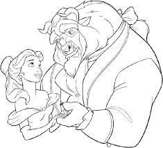 beauty and the beast coloring pages beauty and the beast coloring