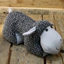 durable service sheep door stop grey sheep doorstop www