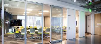 Glass Wall Design by Modernfold Acousti Clear Acoustical Glass Partitions By