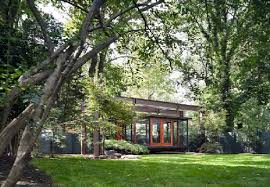 tea house and meditation space design in backyard of a suburban