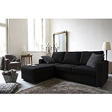 canapé jules maison du monde jules canapé convertible lit angle réversible 4 places tissu noir