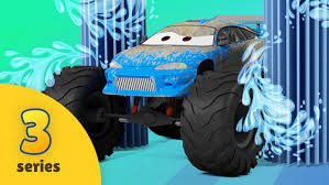 bus monster truck videos monster truck adventures new episode car wash monster truck