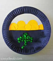 paper plate pot of gold craft for st patrick u0027s day paper plate