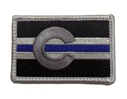 Subdued American Flag With Thin Blue Line Subdued Thin Blue Line Colorado State Flag Patch For Law