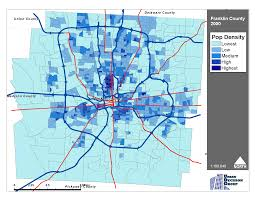 Map Of Columbus Ohio Area by Where Are They Going Population Growth In Franklin County Ohio