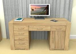 Computer Desk Oak Home Office Desk Oak The Atlas Oak Twin Pedestal Home Office