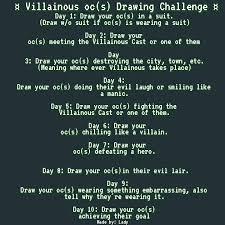 Challenge Meaning Villainous Oc S Drawing Challenge Villainous Amino
