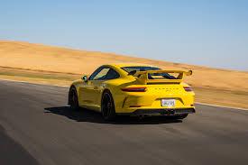Porsche 911 Yellow - conquering thunderhill raceway in the 2018 porsche 911 gt3