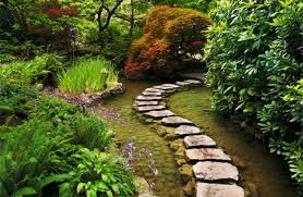 exterior decoration likeable natural stone footpath garden with