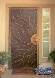 Steel Interior Security Doors Custom Sun Wrought Iron Security Door By Artistic Iron Works Las