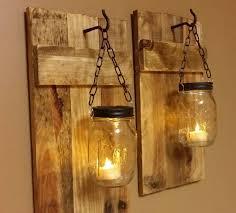 Rustic Bathroom Sconces Diy Mason Jar Sconce Making Tutorial Mason Jar Crafts