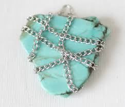necklace stone diy images Diy chain wrapped stone necklace gina michele jpg