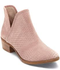 womens boots on sale at dillards lucky brand bashina nubuck leather stacked heel booties lucky
