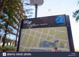 san francisco hospitals map signage with map at the parnassus heights cus of the