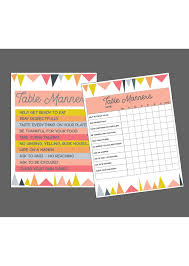 table manners for kids printable table manners printable jellytelly