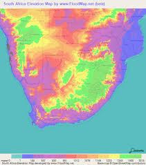 africa map elevation south africa elevation and elevation maps of cities topographic