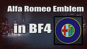 alfa romeo emblem alfa romeo emblem in bf4 battlefield 4 emblem creator youtube